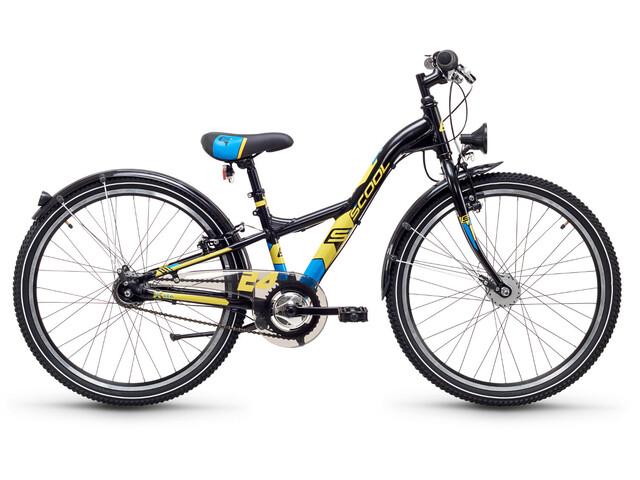 s'cool XXlite 24 7-S Bicicletta bambino Steel nero